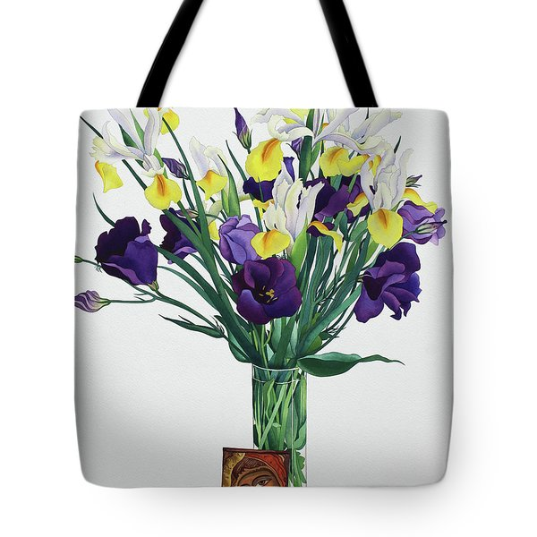 Flowers With Face From An Icon Tote Bag
