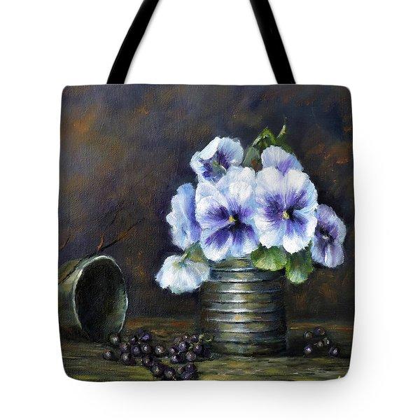 Flowers,pansies Still Life Tote Bag