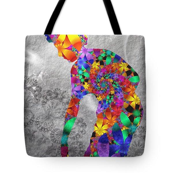 Flowerwoman Tote Bag