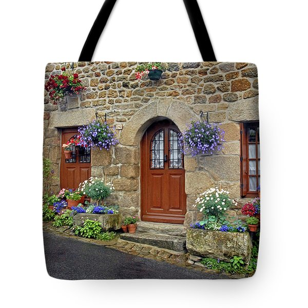 Flowery Doorways In Brittany Tote Bag