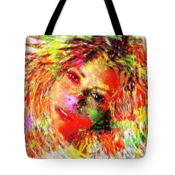 Flowery Shakira Tote Bag
