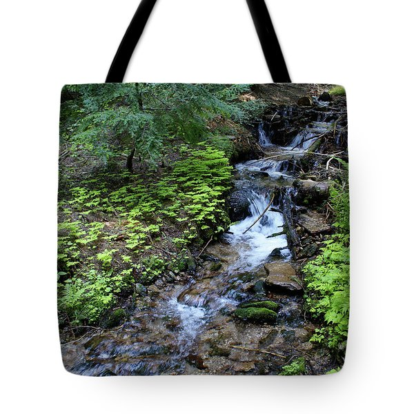 Tote Bag featuring the photograph Flowing Creek by Ben Upham III