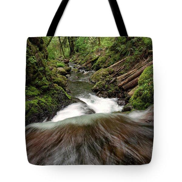 Flowing Downstream Waterfall Art By Kaylyn Franks Tote Bag