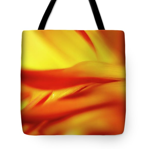 Flowing Floral Fire Tote Bag