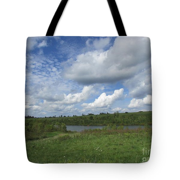 Flowing Low Tote Bag