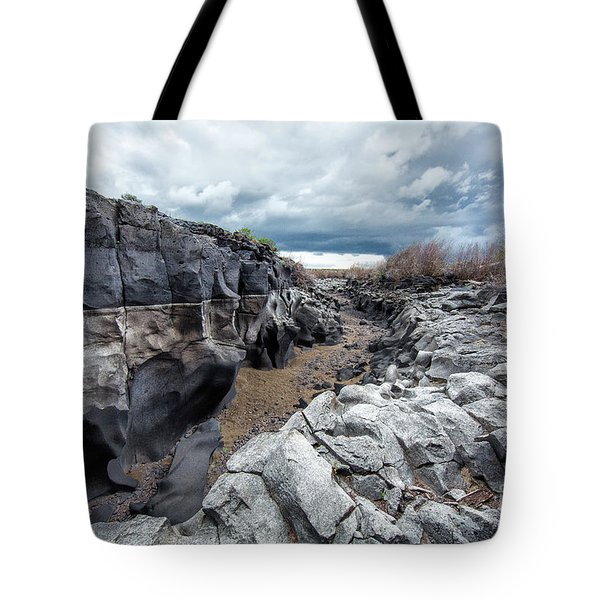 Flowing To The Storm Idaho Journey Landscape Art By Kaylyn Franks Tote Bag
