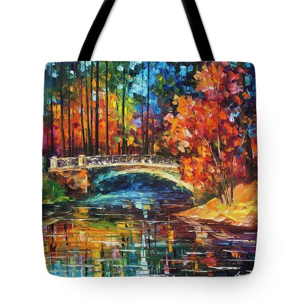Flowing Under The Bridge  Tote Bag by Leonid Afremov