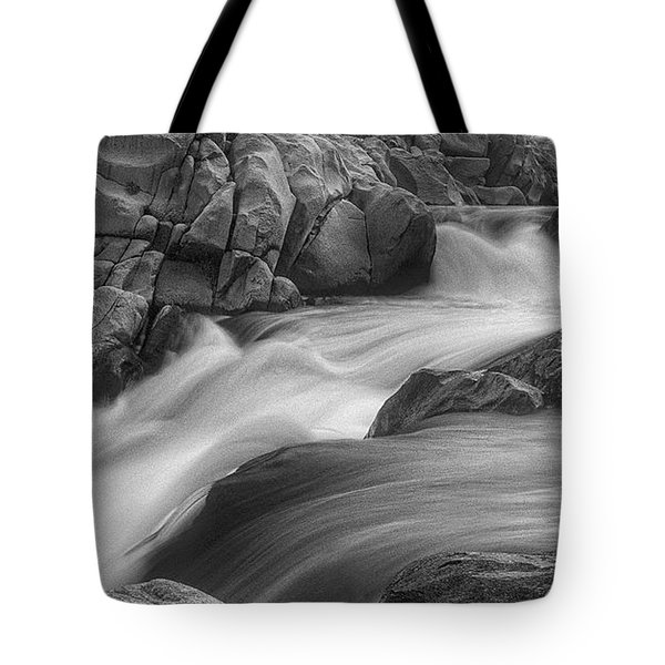 Tote Bag featuring the photograph Flowing Waters At Kern River, California by John A Rodriguez