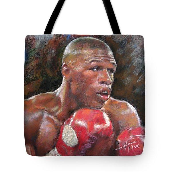 Floyd Mayweather Jr Tote Bag by Ylli Haruni