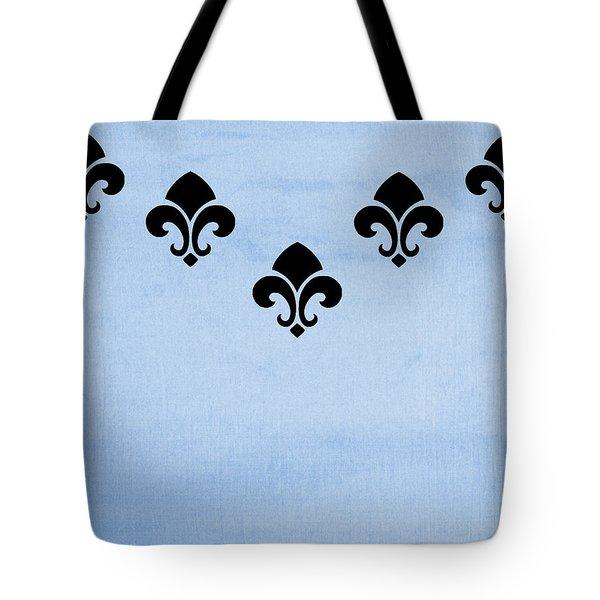 Fleur De Lis In Blue Tote Bag