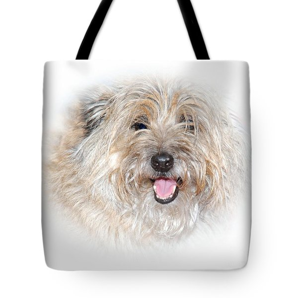 Tote Bag featuring the photograph Fluff Pup by Debbie Stahre