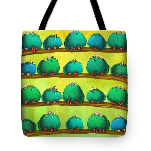 Fluff Rows Tote Bag