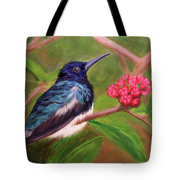 Fluffed Hummer Tote Bag by Janet Greer Sammons