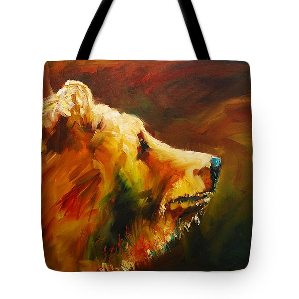 Fluffy Bear Tote Bag