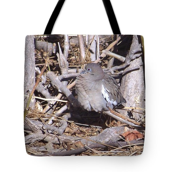 Fluffy Dove Tote Bag