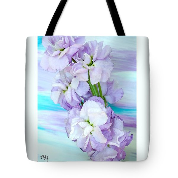 Tote Bag featuring the mixed media Fluffy Flowers by Marsha Heiken
