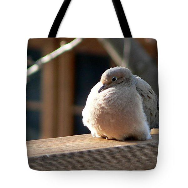 Tote Bag featuring the photograph Fluffy by Laurel Best