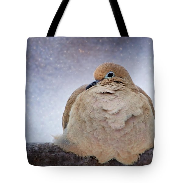 Fluffy Mourning Dove Tote Bag