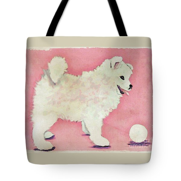 Fluffy Pup Tote Bag