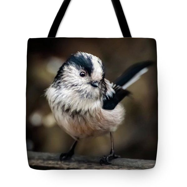 Fluffy The Long-tailed Tit  Tote Bag