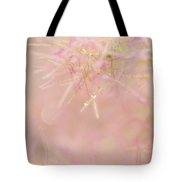 Tote Bag featuring the photograph Fluffy Threads Of Smoke Tree Bloom by Jenny Rainbow
