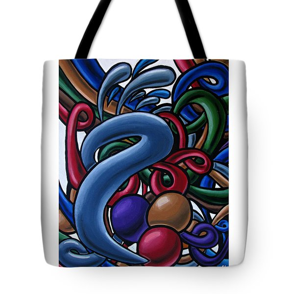 Fluid 1 - Abstract Art Painting - Chromatic Fluid Art Tote Bag