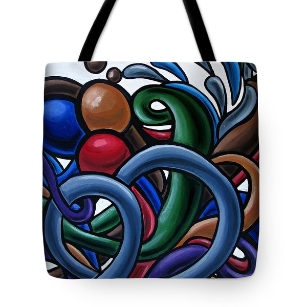Colorful Abstract Art Painting Chromatic Water Artwork Tote Bag