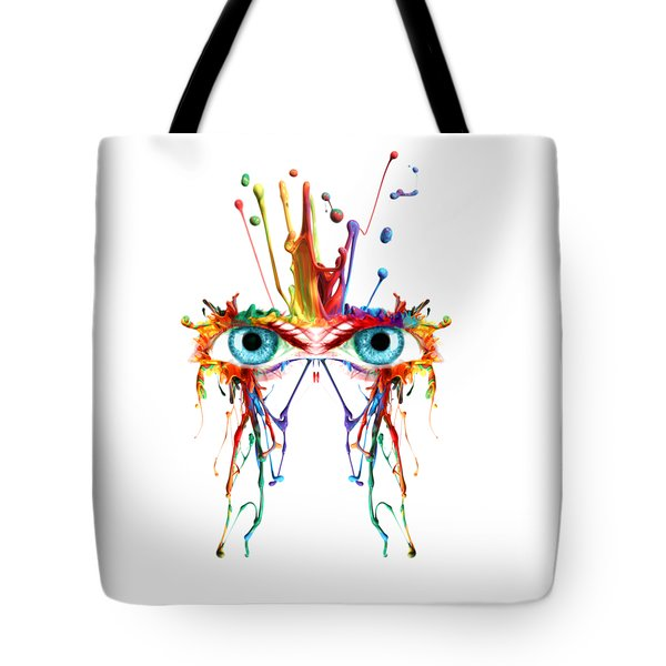 Fluid Abstract Eyes Tote Bag
