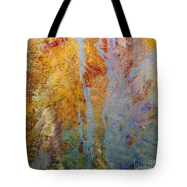 Tote Bag featuring the mixed media Fluid by Michael Rock