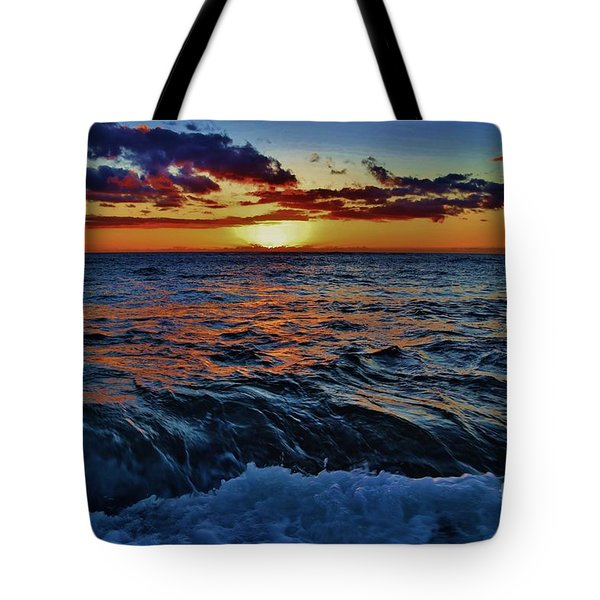 Fluid Sunset Tote Bag