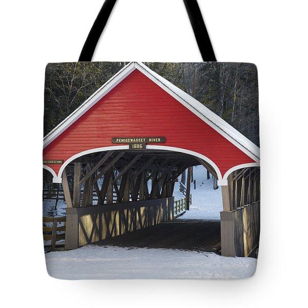 Flume Covered Bridge - Lincoln New Hampshire Tote Bag