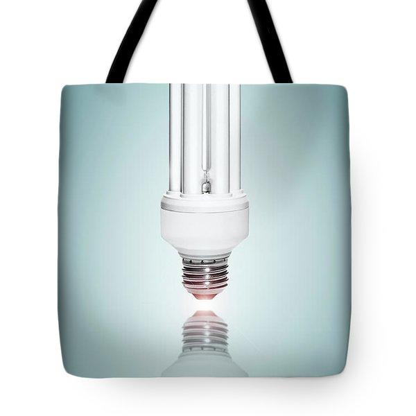 Fluorescent Light Bulb Tote Bag