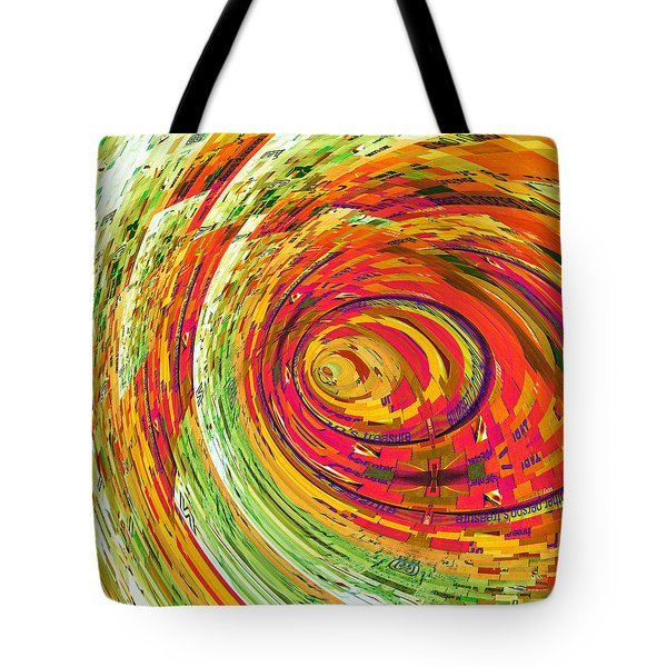 Fluorescent Wormhole Tote Bag by Shawna Rowe