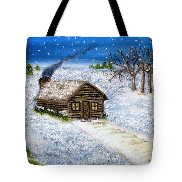 Flurries In Alpena Tote Bag