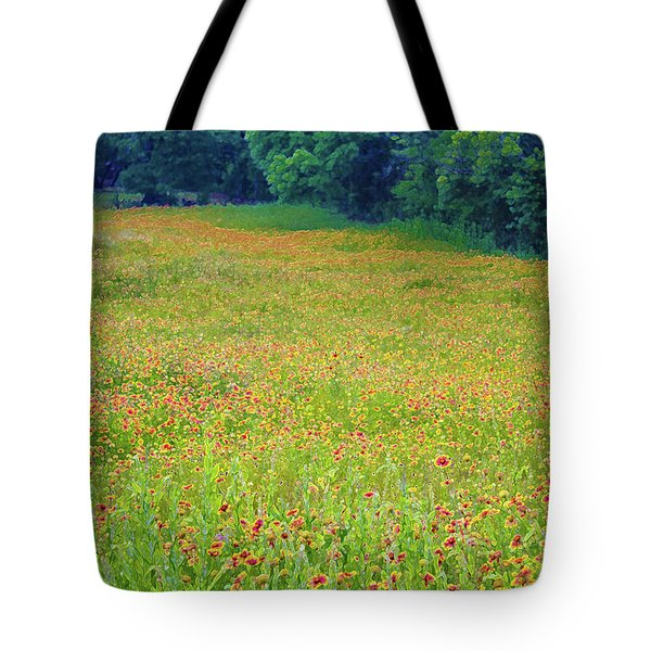 Flush With Flowers Tote Bag