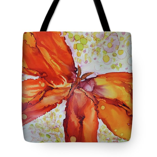Tote Bag featuring the painting Flutter by Joanne Smoley