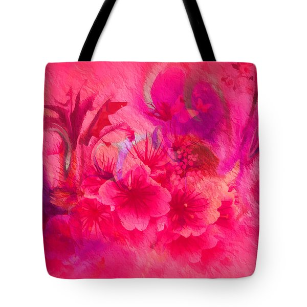 Tote Bag featuring the painting Flower Art Pinky Pink  by Sherri  Of Palm Springs
