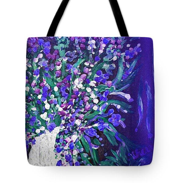 Tote Bag featuring the painting Flower Art  Spring Flowers In A Vase by Sherri  Of Palm Springs
