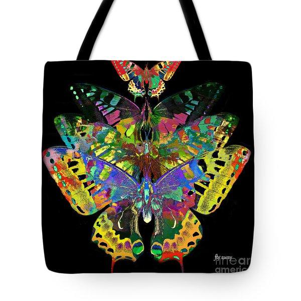 Tote Bag featuring the digital art Fly Away 2017 by Kathryn Strick