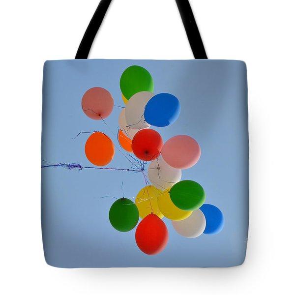 Fly Away Balloons Tote Bag