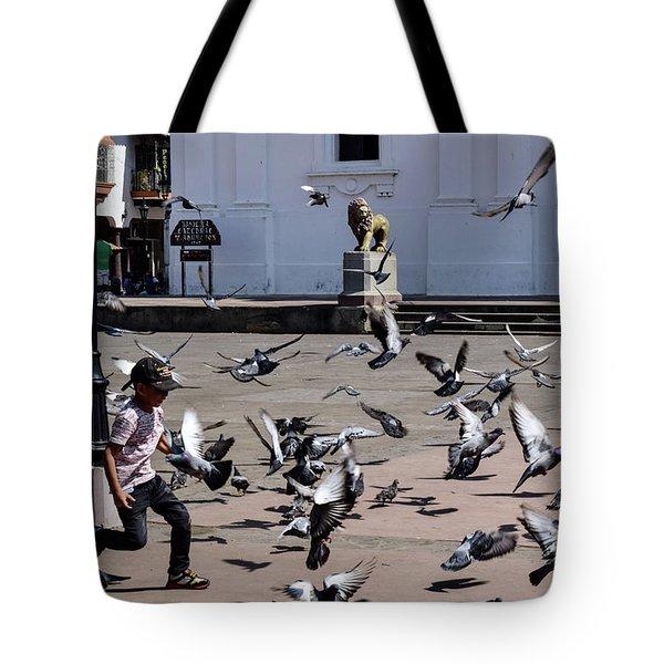 Fly Birdies Fly Tote Bag