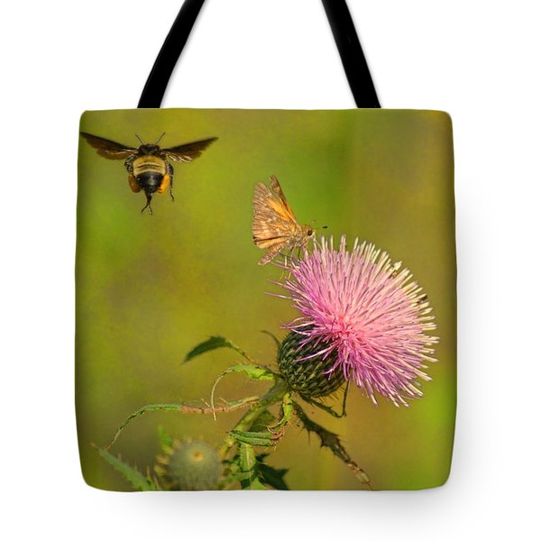 Fly By Bee Tote Bag