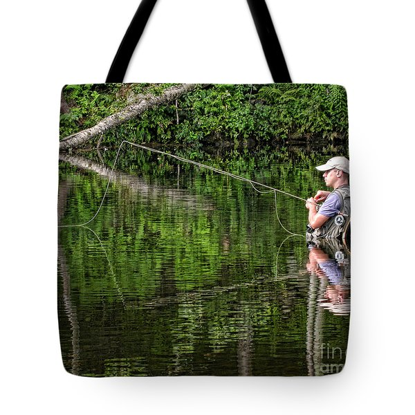 Fly Fisherman Tote Bag