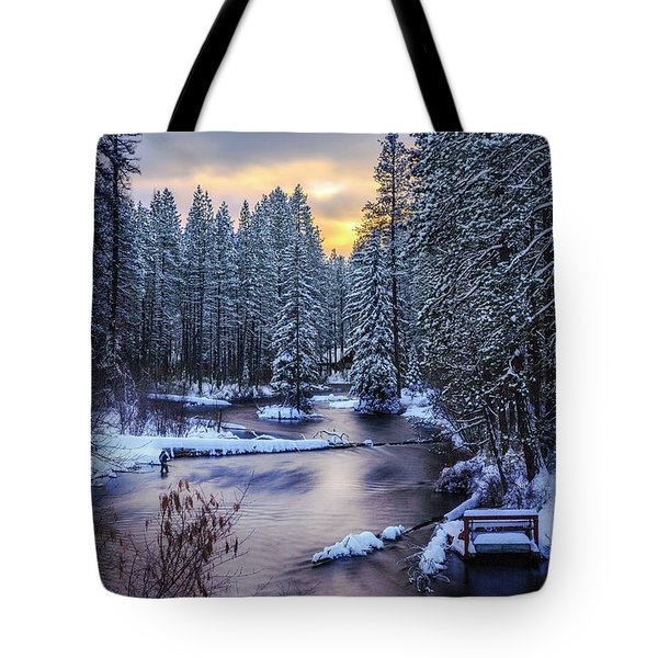 Fly Fisherman On The Metolius Tote Bag