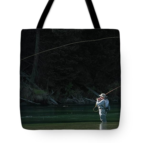 Fly Fishing In The Snake River Tote Bag