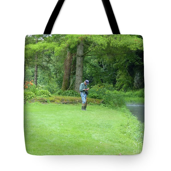 Fly Fishing On Trout Run Creek Tote Bag