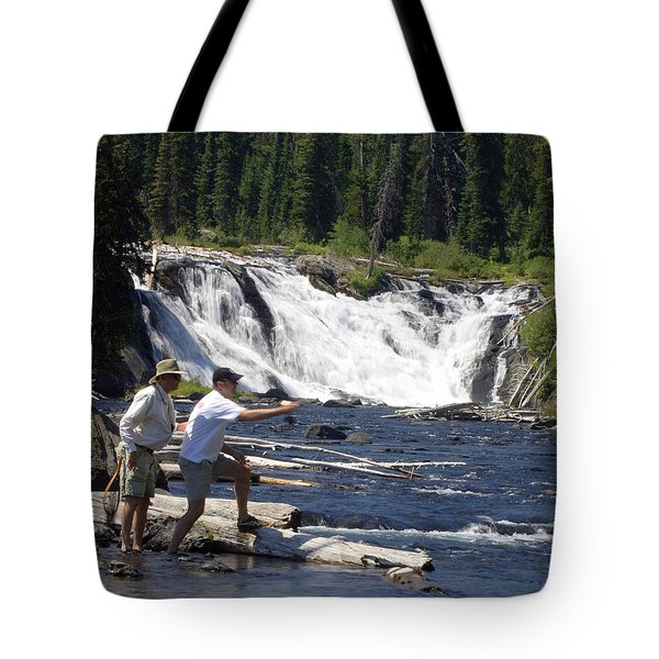 Fly Fishing The Lewis River Tote Bag by Marty Koch
