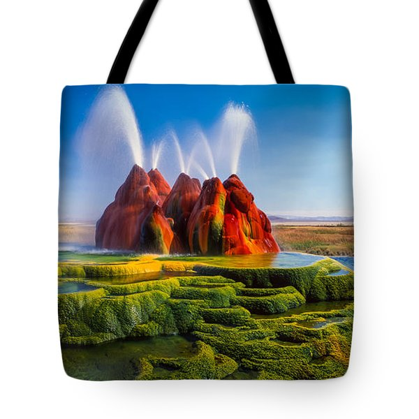 Fly Geyser Panorama Tote Bag