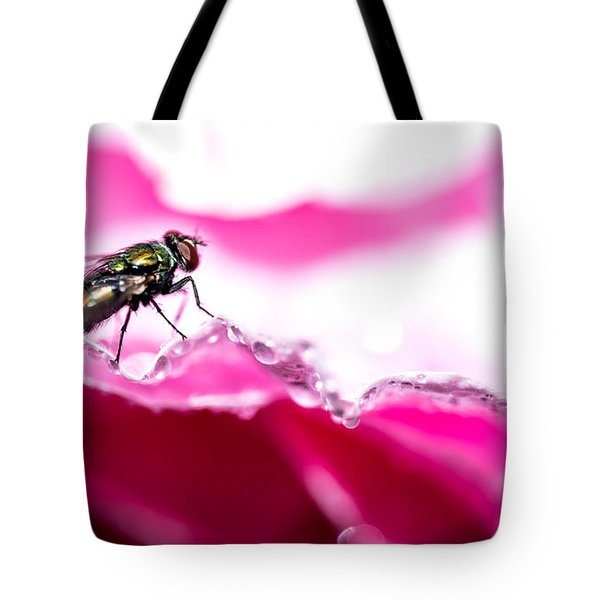 Fly Man's Floral Fantasy Tote Bag