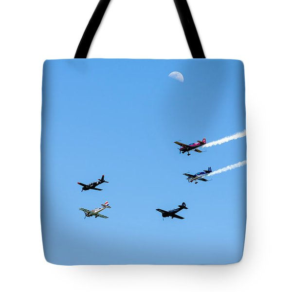 Fly Me To The Moon Tote Bag by Marco Oliveira